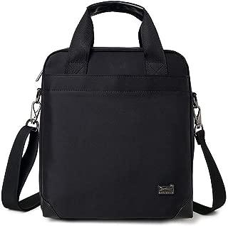 Men's Shoulder Bag Canvas Business Men's Crossbody Bags Laptop Handbags JAUROUXIYUJINn (Color : Black)