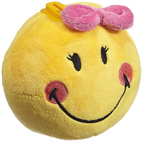 NICI 36739 - Spardose Smiley Plüsch mit Schleife, rund