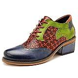 BYEON Zapatos de Oxford de Tobillo de Bohemia para Mujer Zapatos...