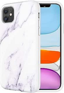 Caka Marble Case for iPhone 11 Marble Case Shockproof Protective Premium Soft TPU Luxury Fashion Exquisite for Girls Women Marble Case for iPhone 11 (6.1 inch)(White)