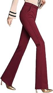 maweisong 女性のワイド脚高ウエストスラックス事務作業palazzoスーツパンツ