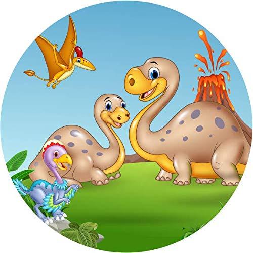Torta commestibile decorazione dinosauri11 / 20 cm Ø
