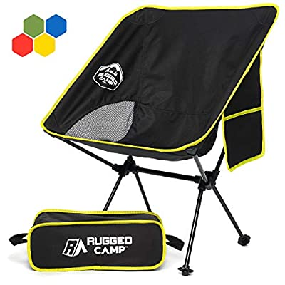 Rugged Camp Versalite Portable Folding Chair - for Camping, Beach, Sporting Events, Festivals - Camping Gear Accessory and Outdoor Folding Chair