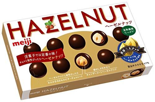 明治 ヘーゼルナッツチョコレート 52g ×10箱