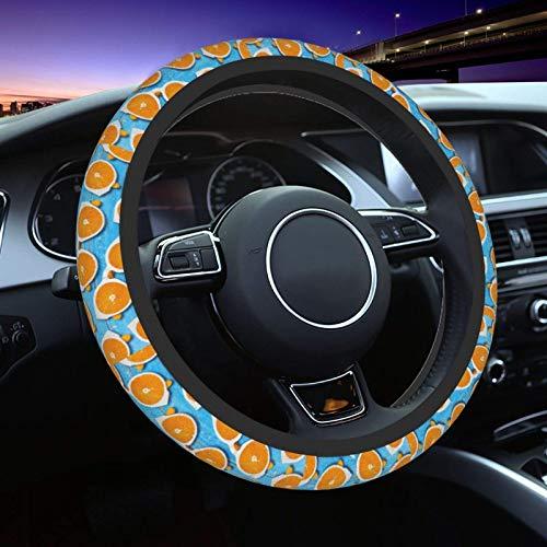 Gafas de Verano Naranja Volante Cubierta antideslizante Suave Universal Auto Protector Cómodo Elasticidad Interior Coche Decoración Durable No Descoloración Accesorios Coche