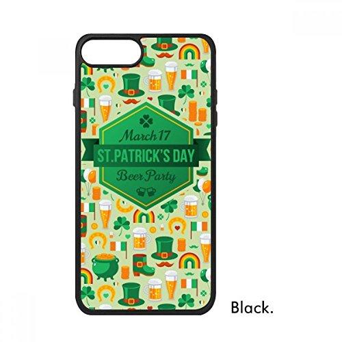 DIYthinker Vier Blad Klaver Bier Vlag Boot Baard Regenboog Ierland St.Patrick's Day Voor iPhone 7 Cases Phonecase Apple Cover Case Gift, iPhone 7 Plus case