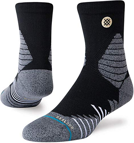Stance Herren Quarter ICON Hoops QTR Socken, schwarz, Medium