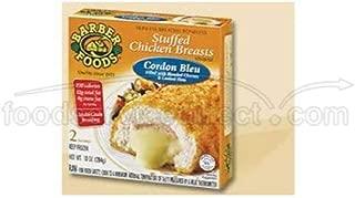 Barber Foods Cordon Bleu Raw Stuffed Chicken Breast, 5 Ounce - 6 per pack -- 4 packs per case.