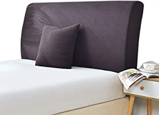 Homepingnew Anti-Wrinkle Thicken Stretch Bed Headboard Slipcover Protector Solid Color Dustproof Cover Bedside Bedroom Decorative Protectors (Coffee, Queen (59