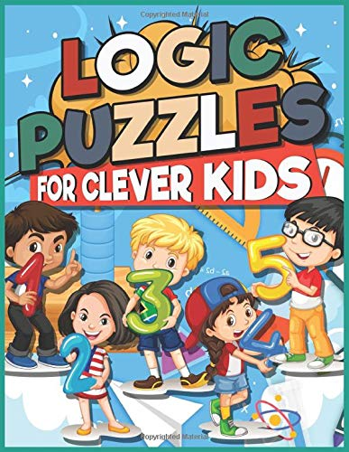 Logic Puzzles for Clever Kids: Fun brain games for ages 4 & up ,NDB 044 : Four pretty kids hanging numbers models  design