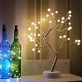 Watopi - Luces de árbol USB, luces de árbol de ramas de perlas LED, 36 luces LED, luz decorativa de jardín, resistente al agua, ahorro de energía, para patio