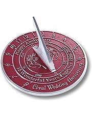 The Metal Foundry 35th Coral 2021 - Reloj de sol para aniversario de boda (metal reciclado)