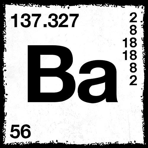 how about tee? - Ba - Barium - Periodensystem - Heisenberg - stylischer Kühlschrank Magnet mit lustigem Spruch-Motiv - zur Dekoration oder als Geschenk