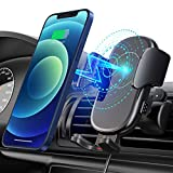 Mpow Wireless Car Charger, Qi Car Charger 15W/10W/7.5W, Auto-Clamping Car Wireless Charger, Air Vent Car Phone Mount, Compatible with iPhone 12/12 Pro/12 Pro Max/Galaxy Note 20/S20/S10
