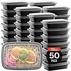 🍱SINGLE 1 COMPARTMENT MEAL PREP CONTAINERS, LEAK PROOF, STRONG DURABLE CONSTRUCTION – Advance meal prep containers, diet portion control, healthy nutritious meals and to-go meals are super convenient to prepare in these durable FOOD STORAGE CONTAINER...