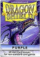 Arcane Tinman Sleeves: Mini Dragon Shield (10) Purple [並行輸入品]