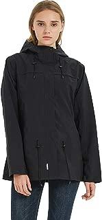 TKTOKY Rain Jackets Waterproof Women Windbreaker Breathable Lightweight Hooded Raincoats