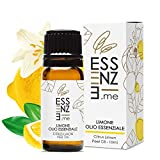ESSENZE OLIO ESSENZIALE DI LIMONE Puro al 100% Naturale, Aromaterapia, olio essenziale per diffusori 10ml Prodotto Made in Italy