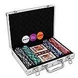 NOLIE Casino Poker Chip Set 200 PCS with Reinforced Aluminum Case for Gambling(11.5 Gram)