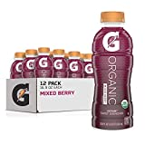 G Organic, Mixed Berry, Gatorade Sports Drink, USDA Certified Organic, 16.9 oz. Bottle (Pack of 12)