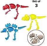 3 Large Dinosaur Sand Molds, Dinosaur Fossil Skeleton Beach Toy Set