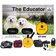Educator Bundle of 2 Items - E-Collar - ET-402-3/4 Mile Wireless Rechargeable Remote Waterproof Trainer Static, Vibration and Sound Stimulation Collar with PetsTEK Dog Training Clicker