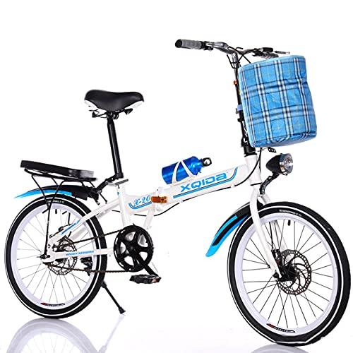 Bicicletas Plegables para Hombres Y Mujeres, Ultraligero, Portátil, para Mujeres Adultas, Plegable, para Estudiantes, para 20 Personas, para Uso Diario, Plegable, para Ciudad, Bicicleta Compacta