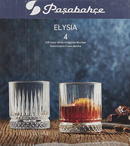 Pasabahce 520004 - Set di 2 bicchieri da whisky in stile retrò e cristallo, per cocktail, succhi di frutta, acqua, drink, tumber pesanti, altezza ~ 10 cm, V ~ 355 ml