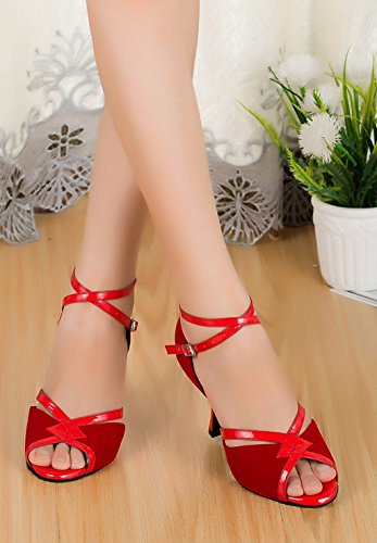 Meijili ,  Damen Tanzschuhe , rot – rot – Größe: 42 - 4