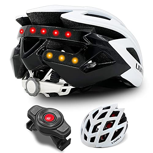LIVALL BH60SE Adult Smart Bike Helmet with Turn Signal Light and 14 tail lights, Built-in Speaker and Microphone, Bluetooth Connection to Phone, Ultra-light and Ventilated Man and Woman Cycling Helmet