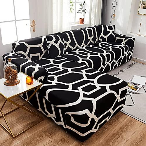 WXQY Funda de sofá elástica Funda de sofá de Sala de Estar con Todo Incluido Funda de sofá elástica Funda de sofá de Esquina en Forma de L Funda de sofá A10 3 plazas