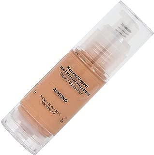 Medium Liquid Foundation Mineral Makeup - All Natural, Organic, Vegan, Gluten/Oil/Paraben Free, Hypoallergenic, Full Coverage For Normal/Dry/Sensitive/Acne/Rosacea/Oily/Teen/Mature Skin - Almond