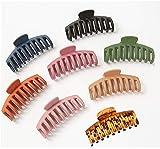 8 paquetes de pinzas para el pelo antideslizantes, pinzas para el pelo grandes, coletas, pinzas para el pelo gigantes, pinzas para el cabello fijas, aptas para mujeres