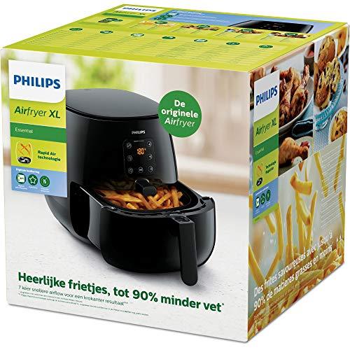 Philips HD9260/90 Airfryer XL – Das Original (Heißluftfritteuse, 1900 W, für 3-4 Personen, 1200 g Kapazität, digitales Display) schwarz - 8