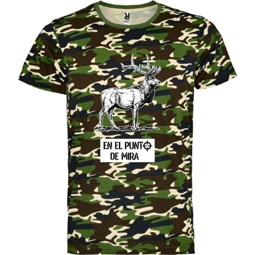 rainUP – Camiseta de Caza – Regalo para Cazador – Camiseta Motivacional Ciervo venado - Día del Padre (Verde, M)