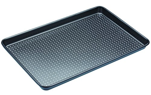 Kitchen Craft MasterClass - Crusty Bake Non Stick Baking Tray, grey, 39 x 27 cm