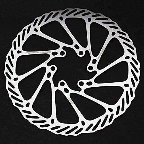 CYSKY 160 180 203mm Scheibenbremse Rotor 2 Packungen Edelstahl Fahrrad Scheibenbremse Rotor 6 Schrauben für die meisten Fahrrad Rennrad Mountainbike BMX MTB (160mm) - 6