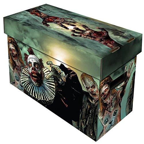 Gruesome obras de arte por Joshua chinsky Obras de arte impreso directamente en la caja. Grosor doble asas y parte inferior Material de alta calidad, apilable, cartón ondulado. Capacidad para 150–175Comics