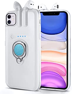 A~Star New Earphones & iPhone Case With Charging Bins for Wireless BluetoothAirPods and Earphones for iPhone X XR XS 11 P...