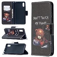 Xiaomiの電話カバー 色の描画ホルダー付きパターン水平フリップレザーケース&カードスロット&財布 革製の電話カバー (色 : Bear)
