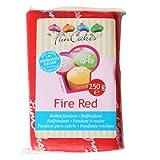 Funcakes Rollfondant in vielen verschiedenen Farben -250g- (Fire Red)