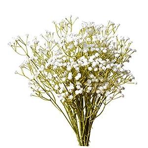 Mandy's 10pcs White Artificial Babysbreath Flowers for Home Kitchen Decoration