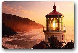 ZMvise Rubber Lighthouse Art and Beautiful Scenery Non-Slip Rubber Door Mat Floor Doormatses 18 x 30 inch