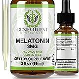 Benevolent Natural Melatonin Liquid 3mg -...