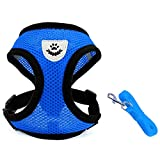 INVENHO Mesh Harness with Padded Vest for Puppy and Cats No Choke...