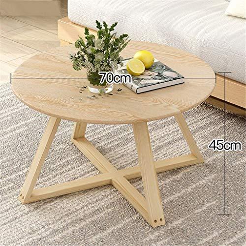 Nordic mesa de centro de madera, habitación moderna simple de estar Mesa redonda Pequeño, sofá simple de Mini Mesa lateral Balcón pequeño café Tabla Pequeño Apartamento Doble Lucha pequeña mesa de cen