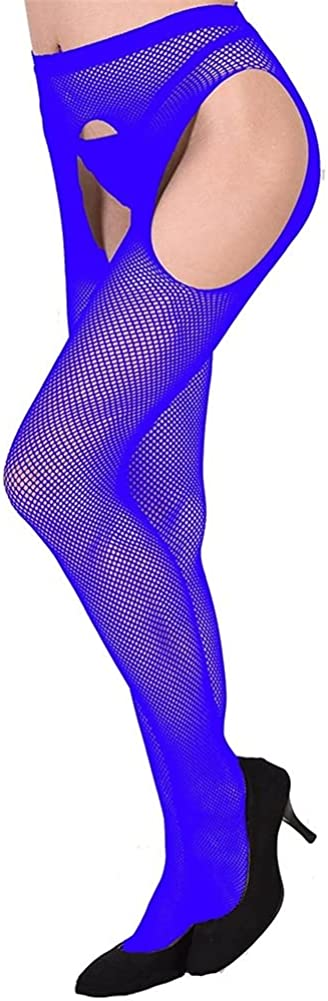 Lady Open Crotch Mesh Tights For Women Solid Plus Size Fishnet Pantyhose For Transparent Stockings Lingerie