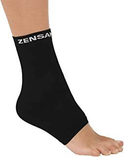 Zensah Ankle Support - Compression Ankle Sleeve, Lightweight Ankle Brace, Relieve Plantar Fasciitis – Best Ankle Support for Running, Basketball, Walking, Jogging, and Everyday Wear
