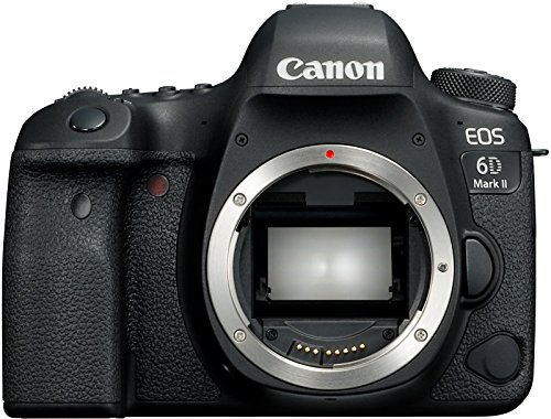 Canon EOS 6D Mark II SLR-digitale camera, volledig formaat, 26,2 megapixel, 7,7 cm (3 inch) display, DIGIC 7, met WLAN/NFC/Bluetooth en GPS), alleen behuizing, zwart, Incl. behuizing, zwart