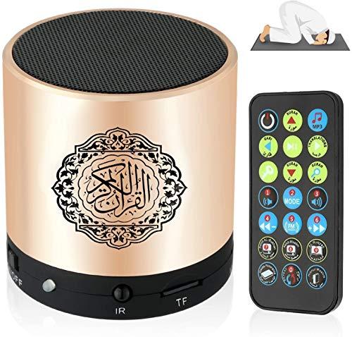 LF SQ200 Remote Control Speaker Portable Quran Speaker MP3 Player 8GB TF FM Quran Koran Translator USB Rechargeable Speaker-Gold